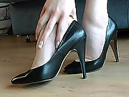 Rose lovingly takes off her high heel shoe, kisses it passionately before putting it back on