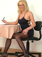 Hot Boss Kirsten Spreading On The Office Desk